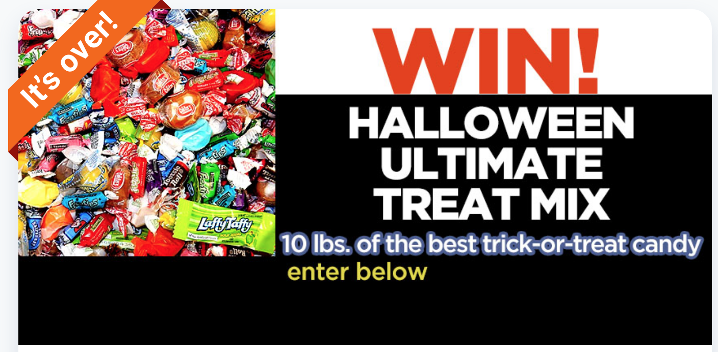 Screenshot showing a promotional banner about halloween