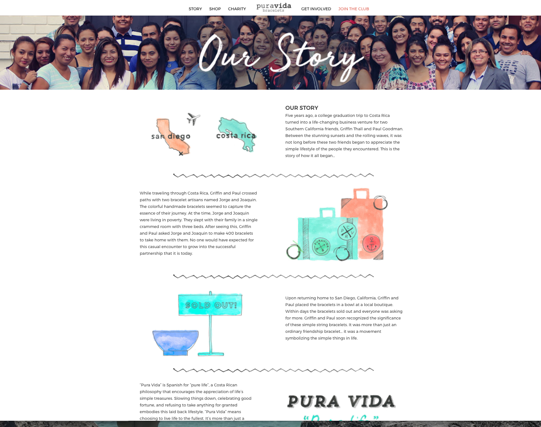pura vida about us page