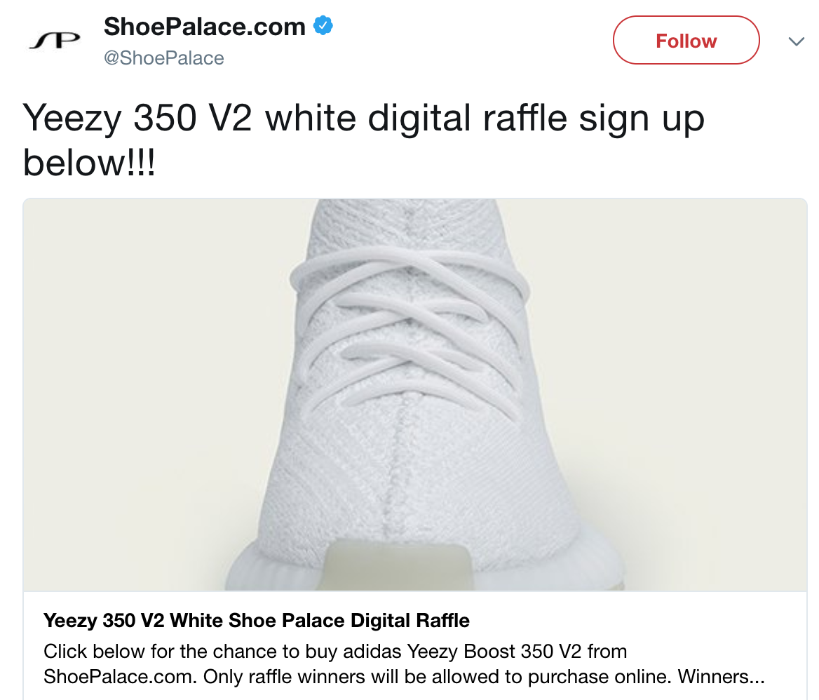 Screenshot showing a tweet on a giveaway