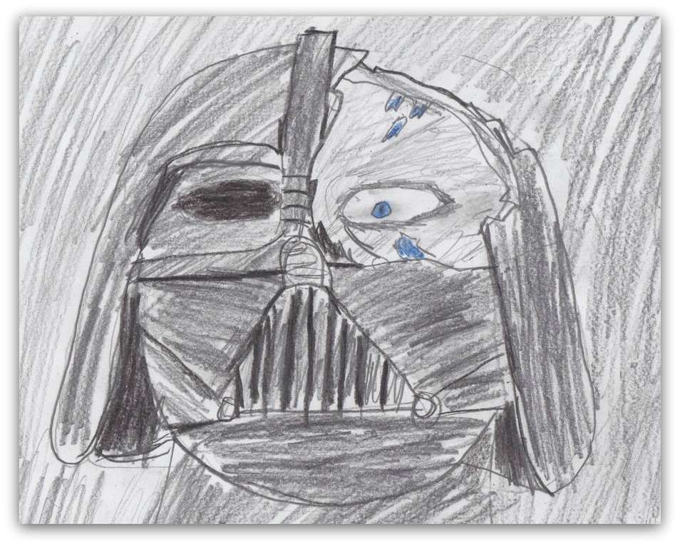 bad darth vader drawing