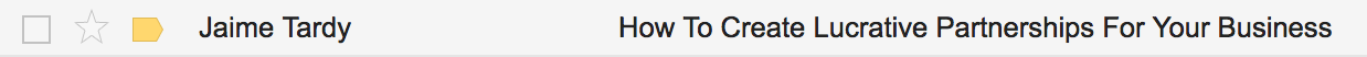 Jaime Tardy using power words on their email subject line