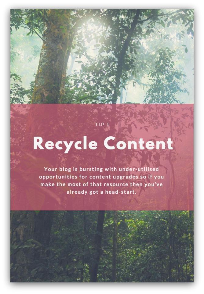 repurposing articles