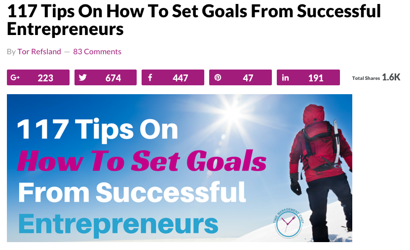 117 tips on how to set goals from successful entrepreneurs