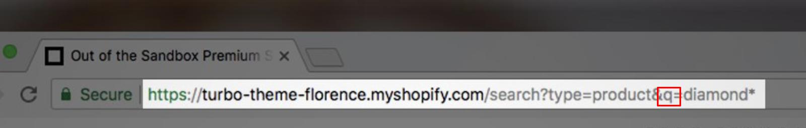 Screenshot showing an address bar