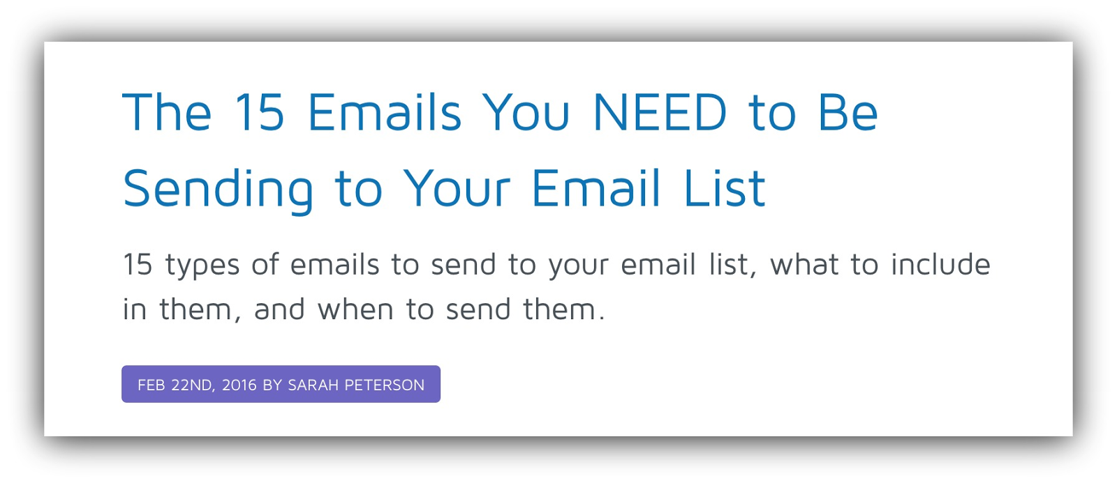 15 emails you need to send sumome