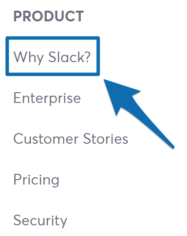 "Screenshot showing the ""why slack"" page on the Slack website"