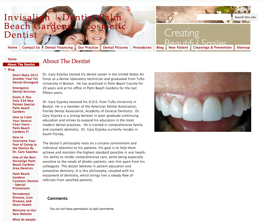 dentist about us page