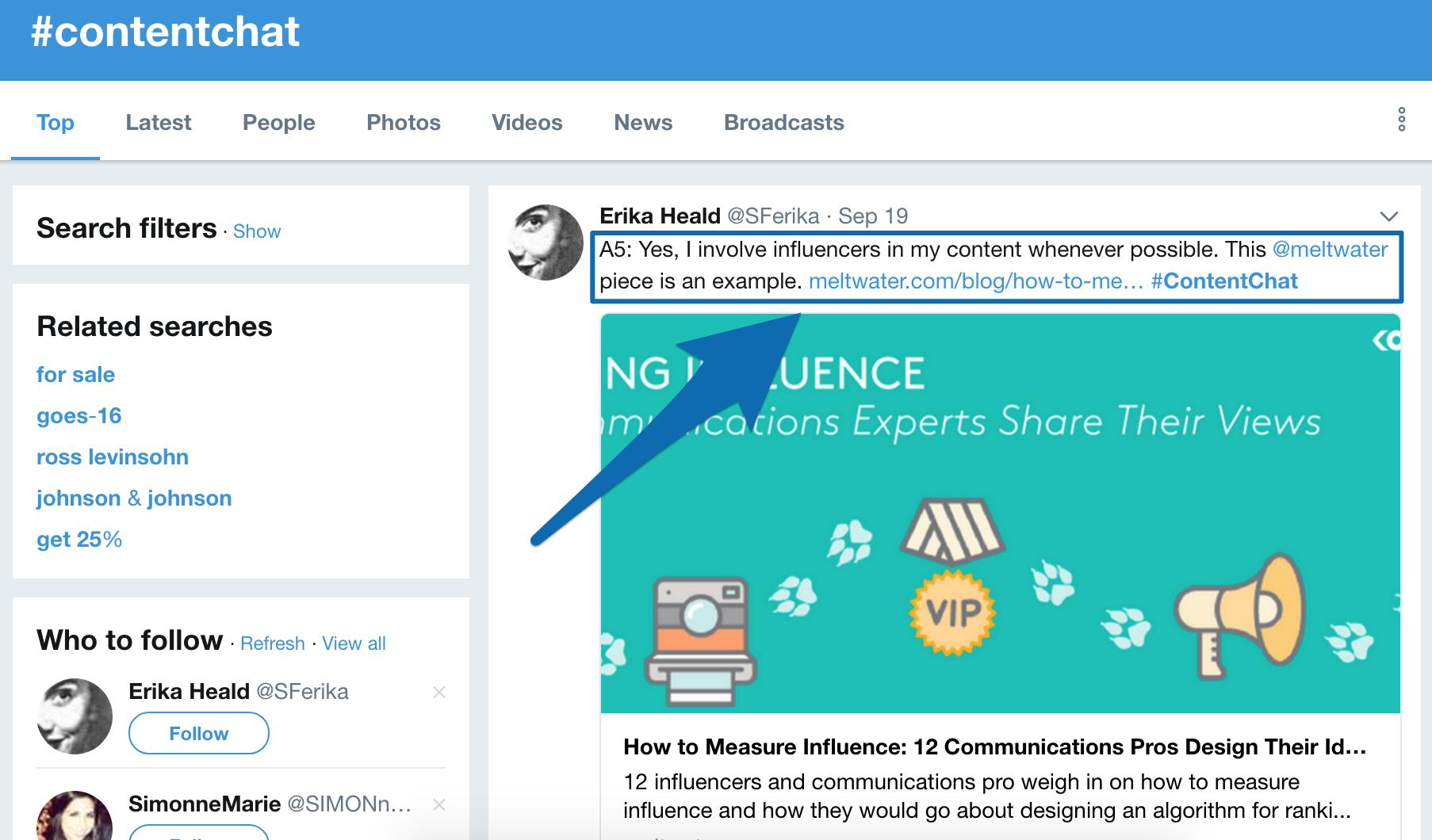 Screenshot showing a Twitter post by Erika Heald