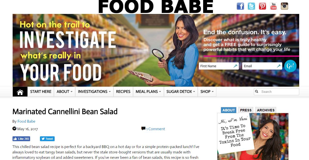 food babe homepage