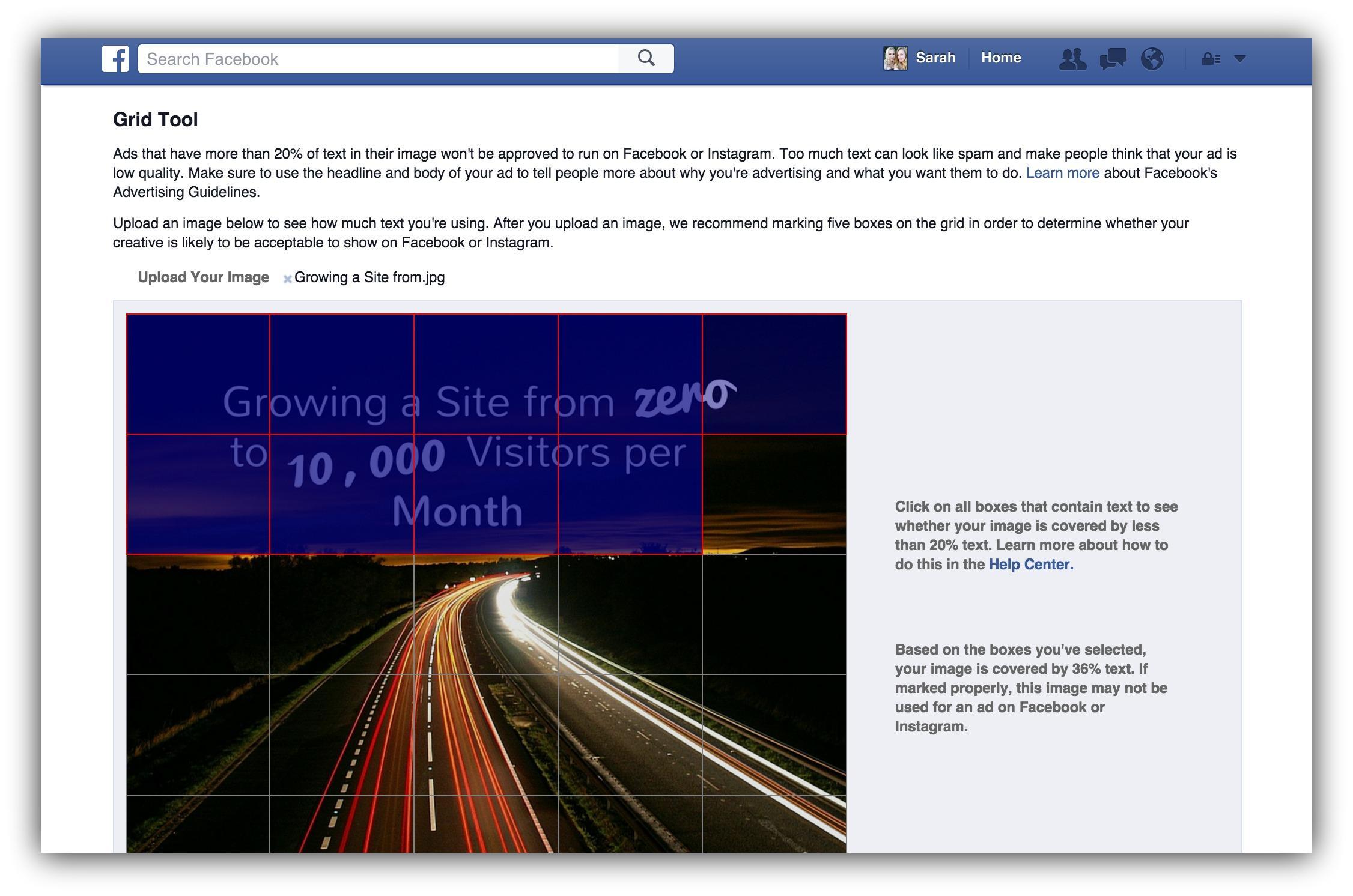 advertising grid facebook tool