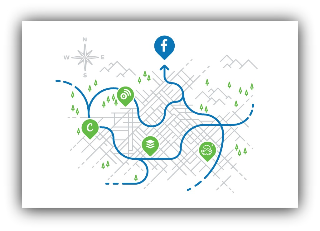social sharing map