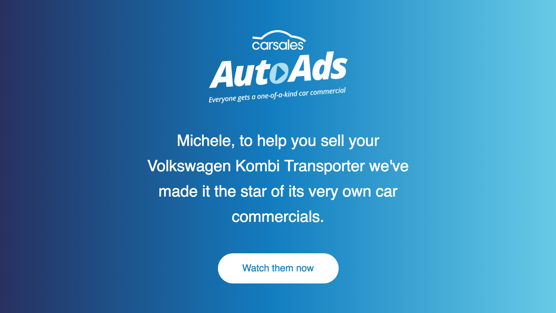 Screenshot showing copy on AutoAds