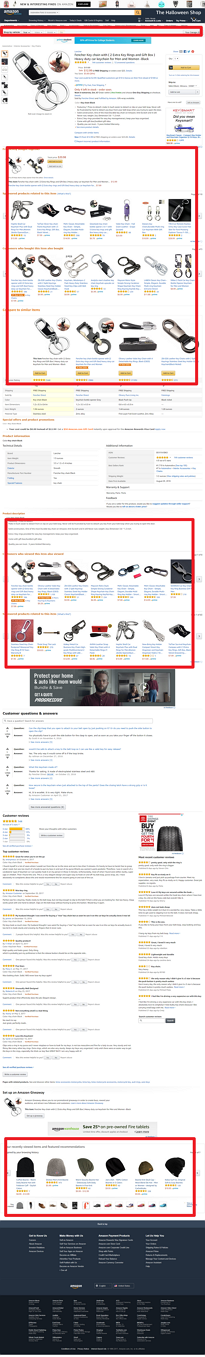 Screenshot showing an amazon product page