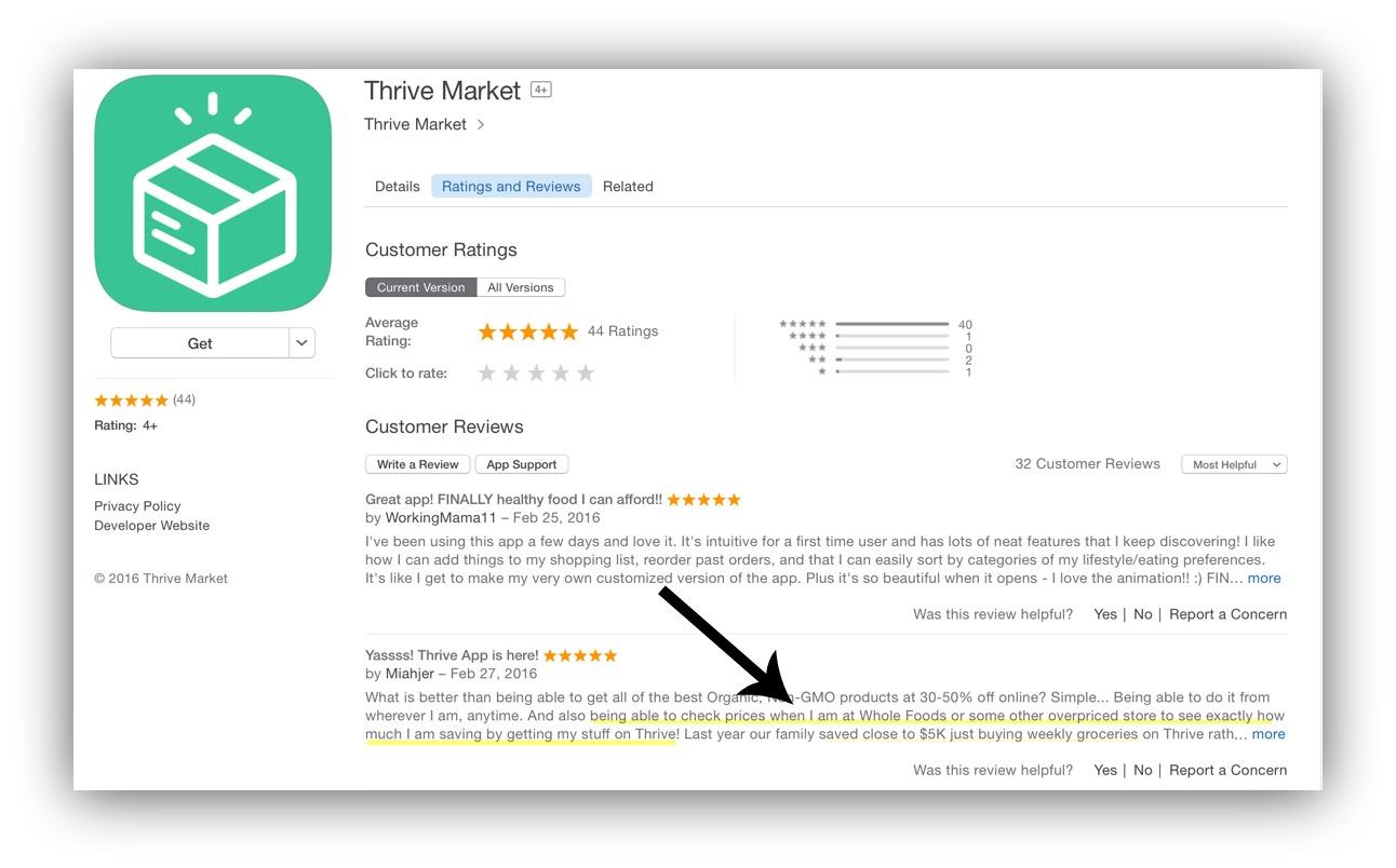 thrive market app