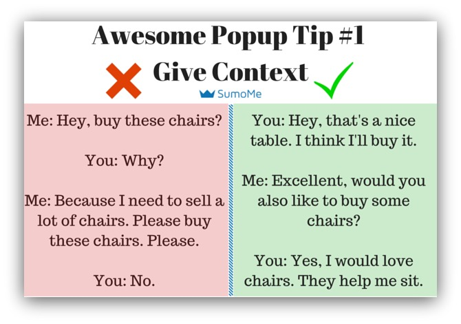 Pop-Up Tip Give Context