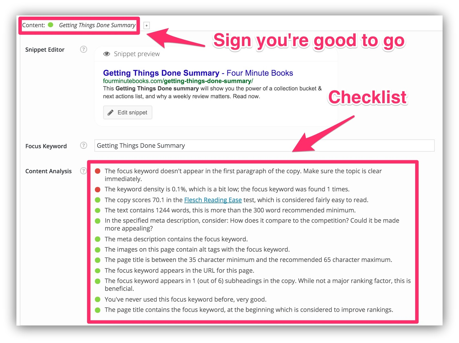 seo checklist on wordpress