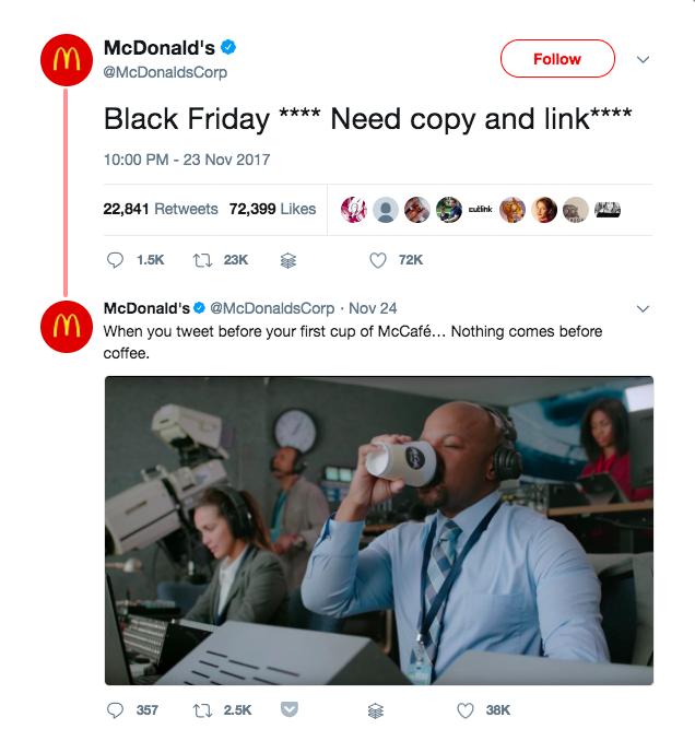 Screenshot showing a mcdonald