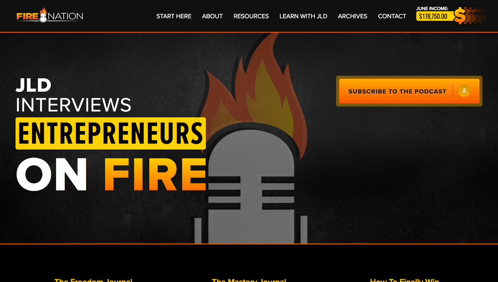 Screenshot showing a podcast