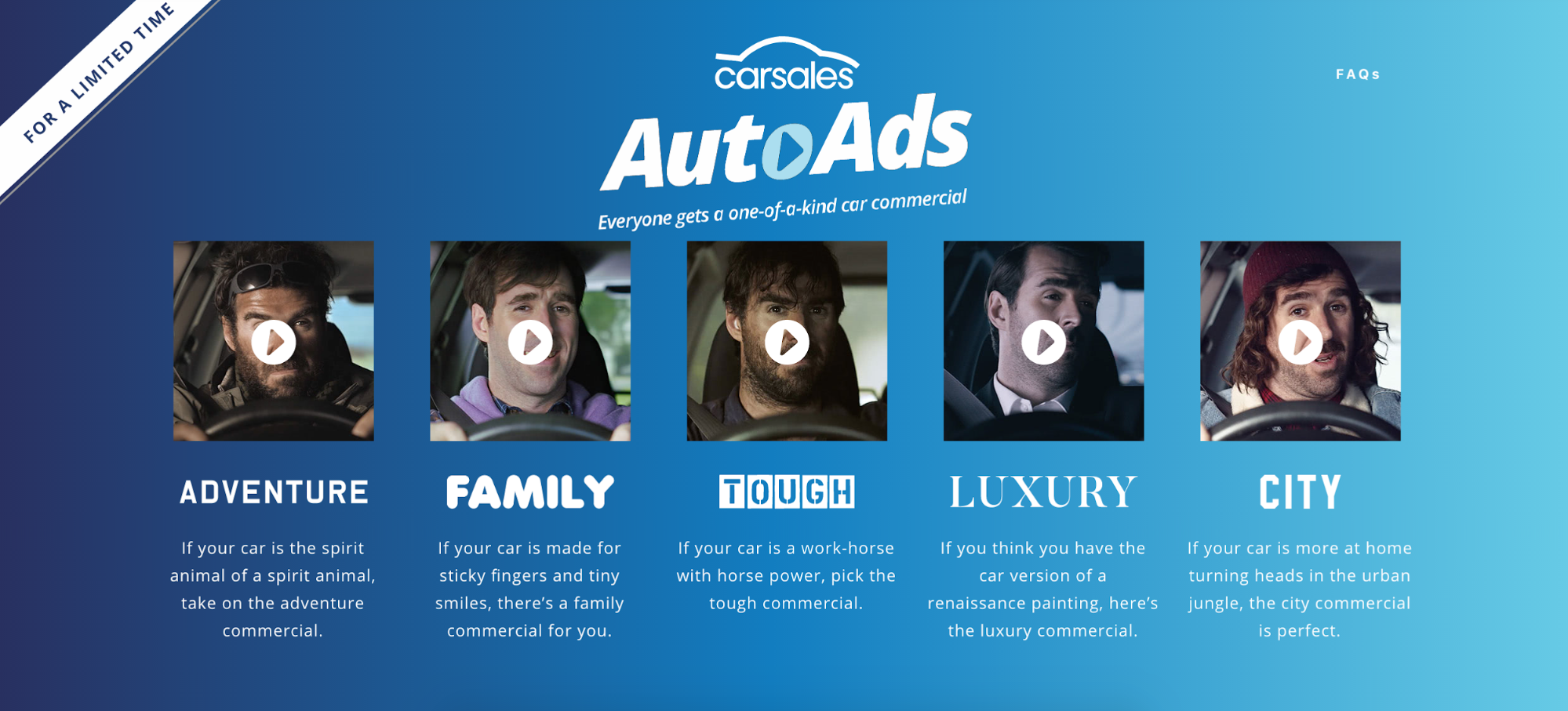 Screenshot showing different kinds of autoads