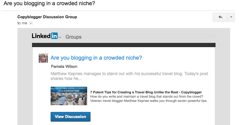 are you blogging in a crowded niche copyblogger