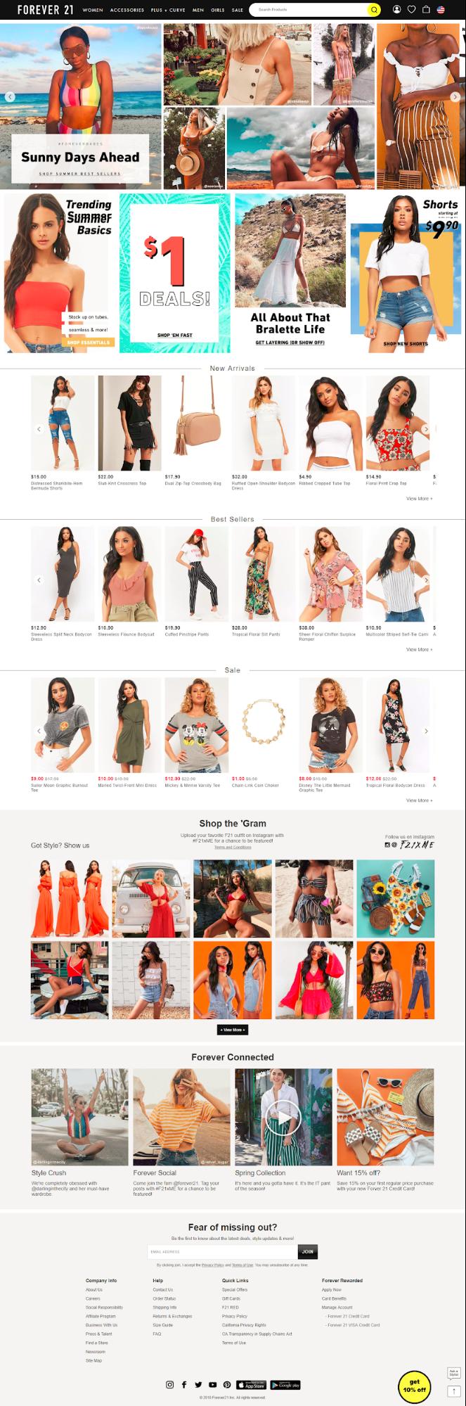 Screenshot showing an ecommerce store