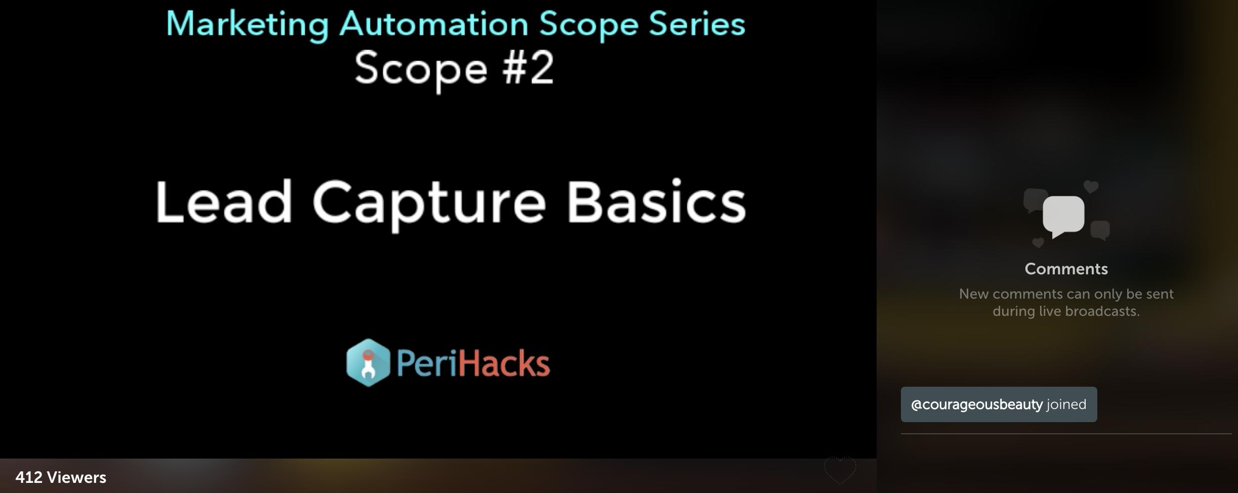 Screenshot showing a webinar by PeriHacks