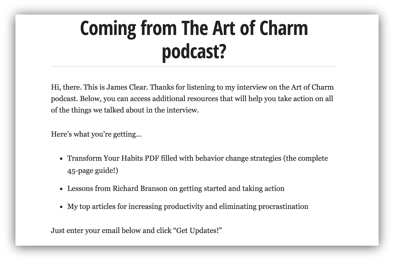 the ultimate guide to pitching podcasts and being featured sumo art of charm podcast