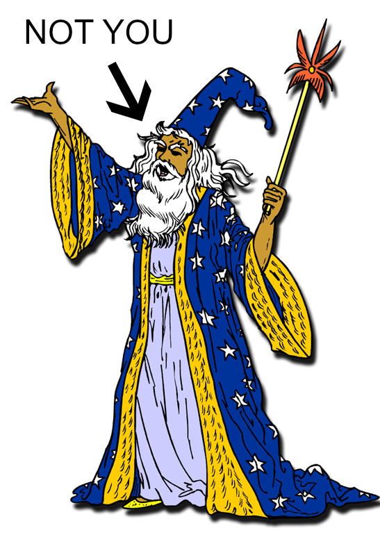 A photo of a wizard that is so not you