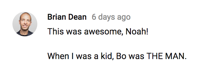 Screenshot showing a comment by Brian Dean
