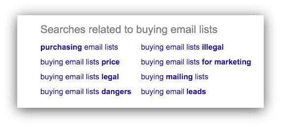buying email lists
