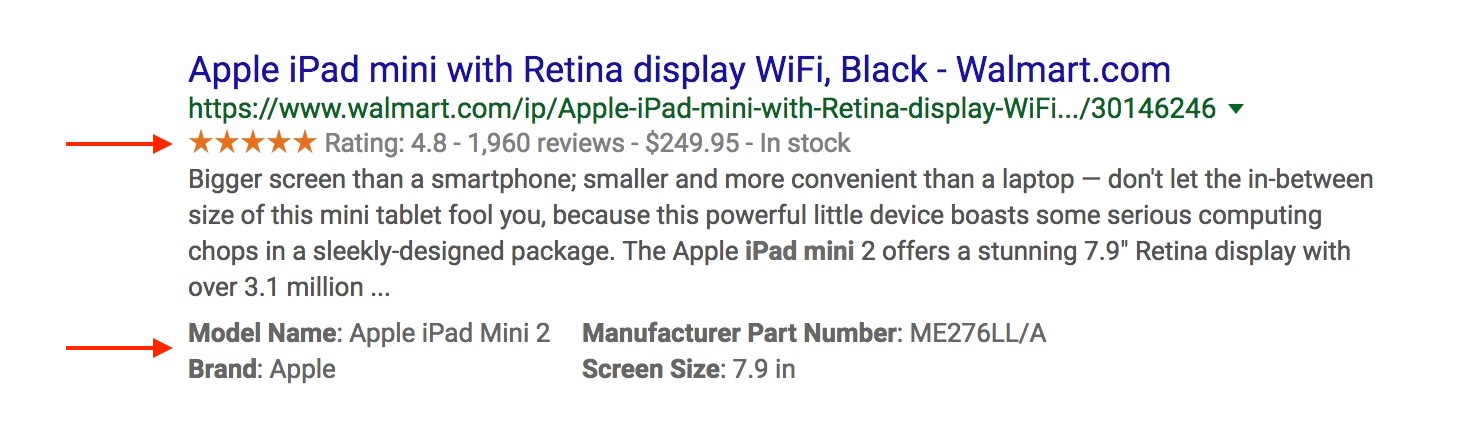 Screenshot showing google search result