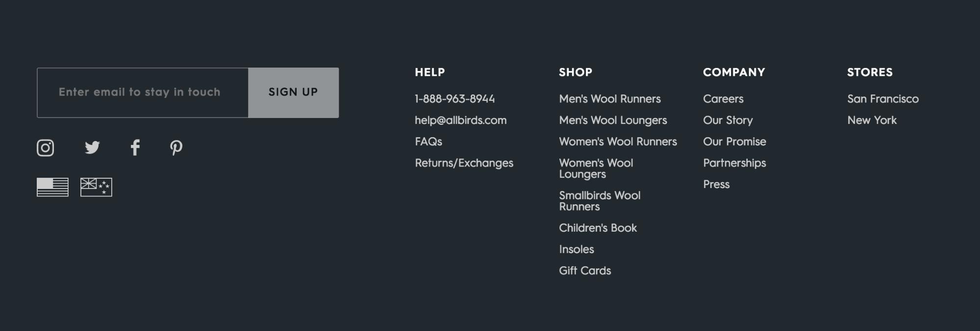 Screenshot showing a website