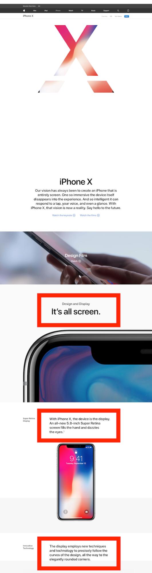 Screenshot showing apple