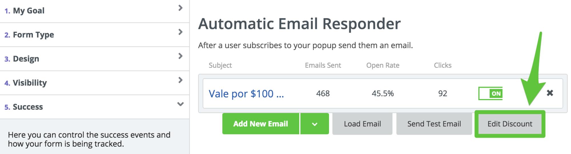 Screenshot showing Sumo email responder settings