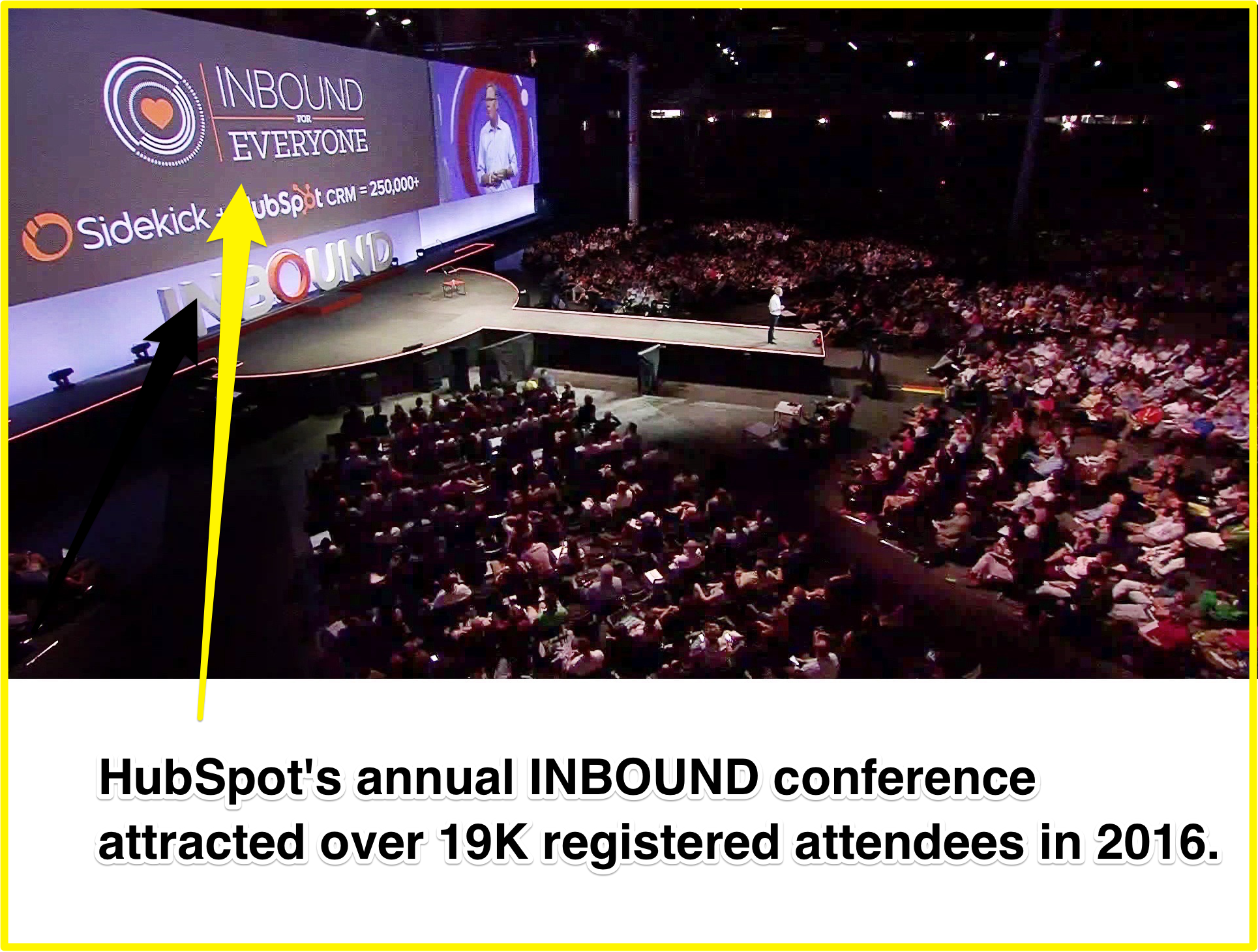 Screenshot showing information about a hubspot conference