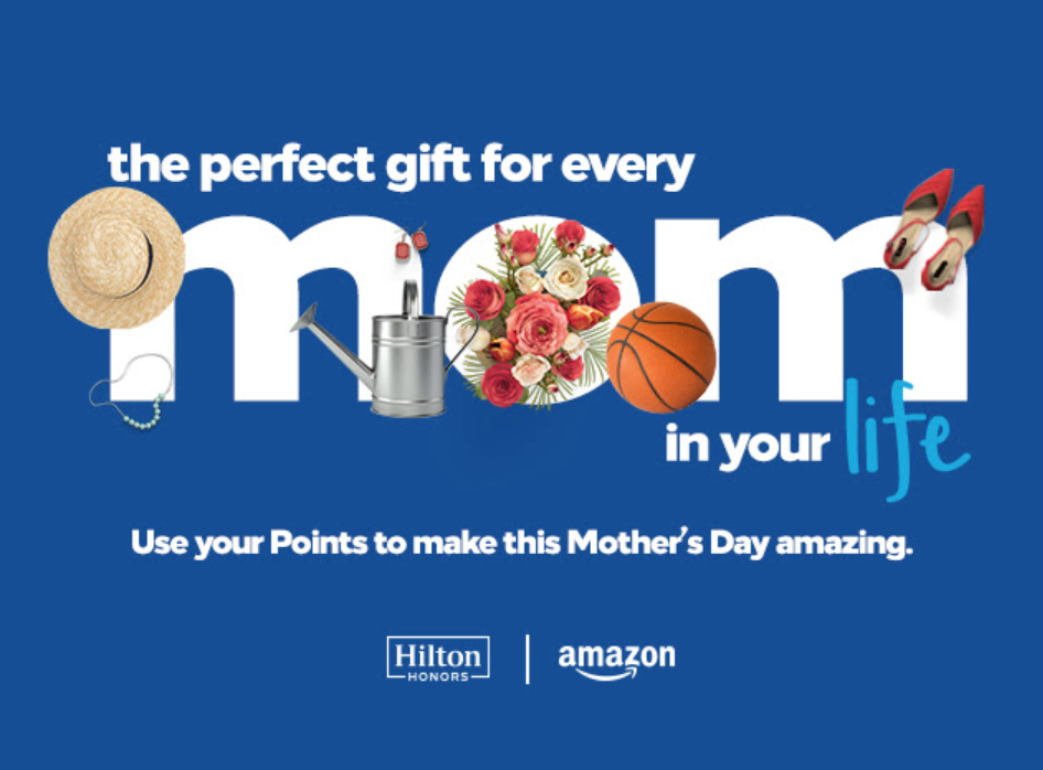 Screenshot showing a promotional banner for hilton/amazon
