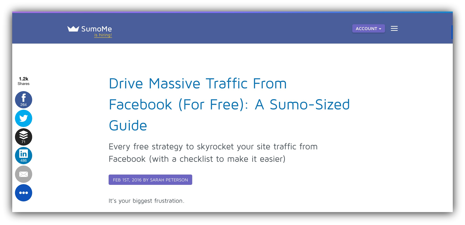 drive massive traffic sumome