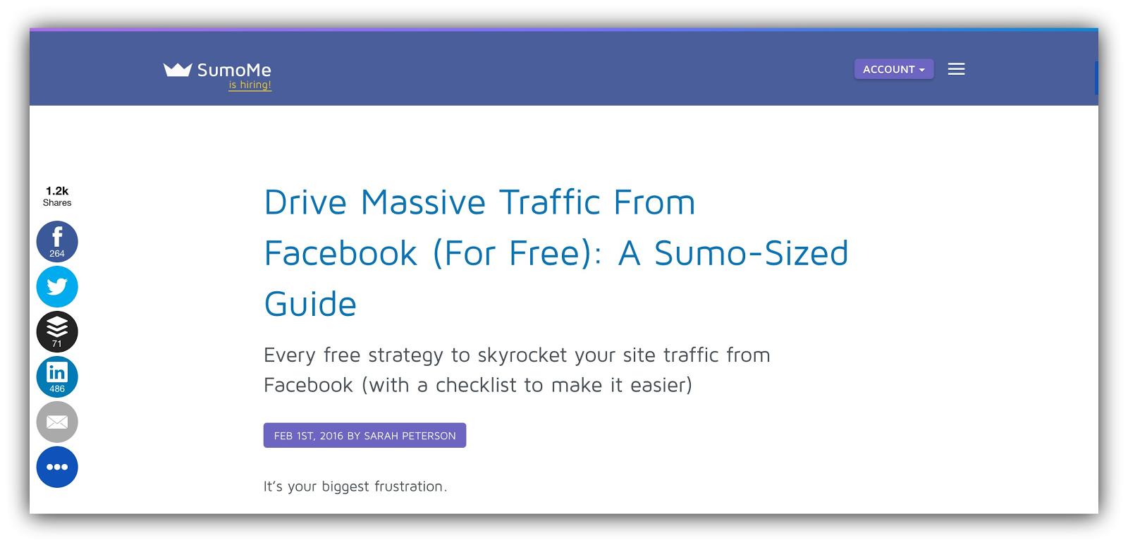 drive massive traffic sumo