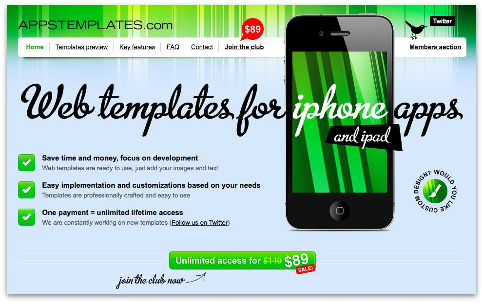 appstemplates.com quick action time sensitive