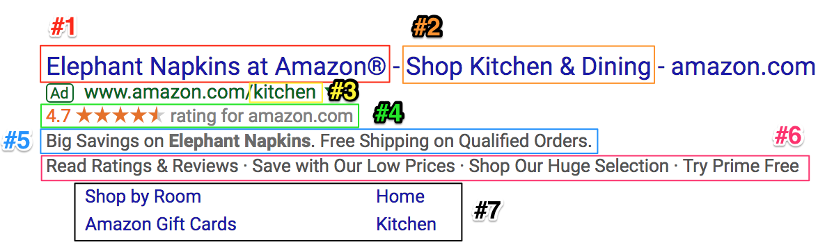 Screenshot showing a google ad for amazon