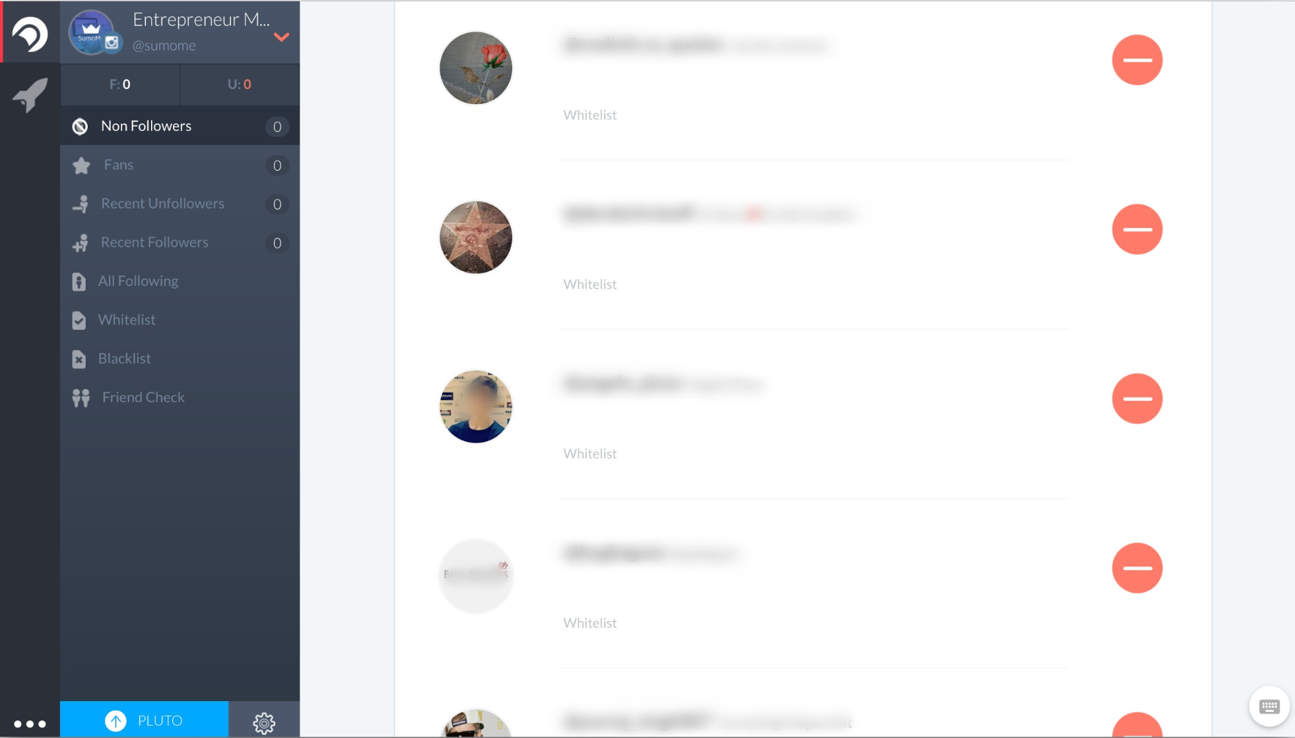 Screenshot of Crowdfire