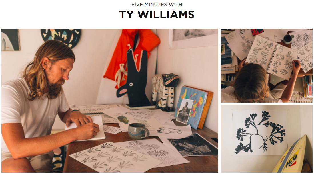 "Screenshot showing pictures of ""five minutes with ty williams"""