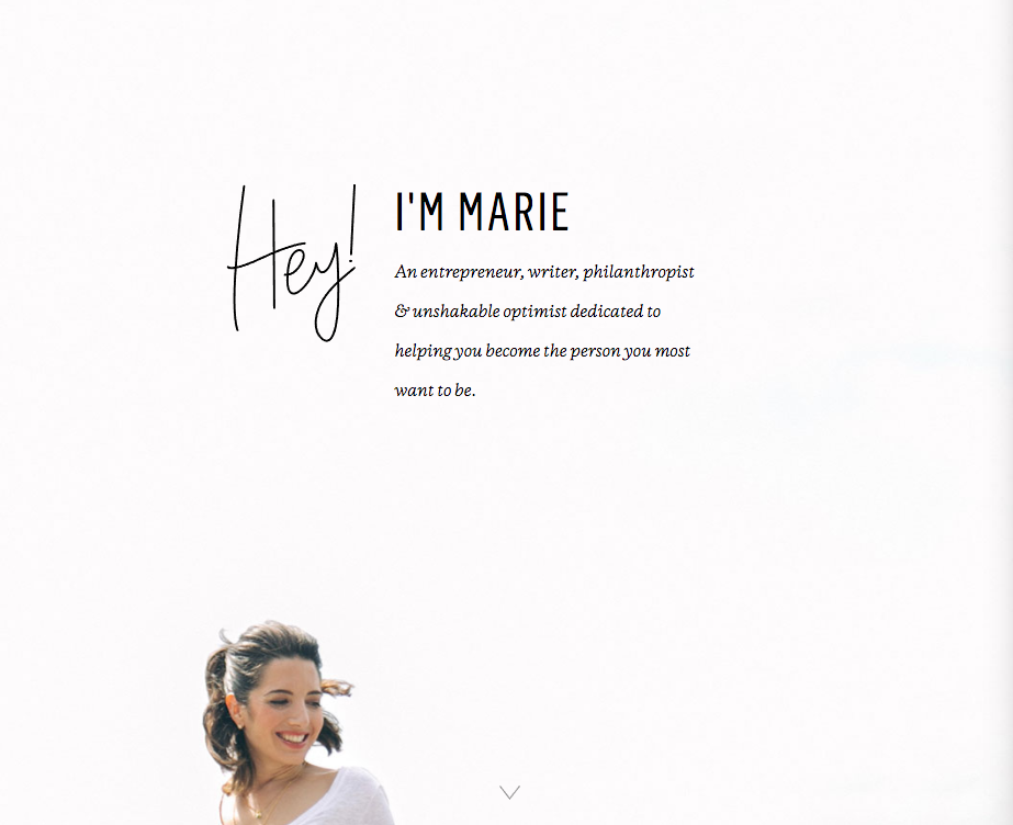marie intro page