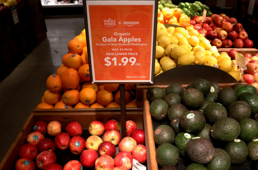 Picture showing price of apples