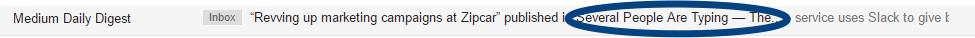 Screenshot showing an email sent by medium
