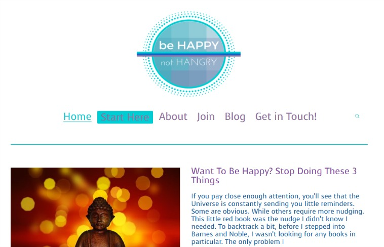 be happy not hangry website