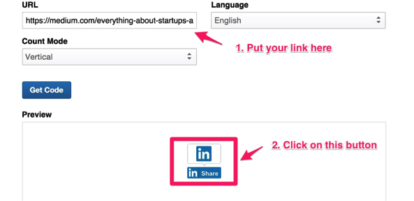 Screenshot showing a post creation page for a post on LinkedIn