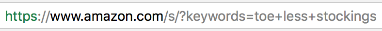 Screenshot showing a url in an address bar