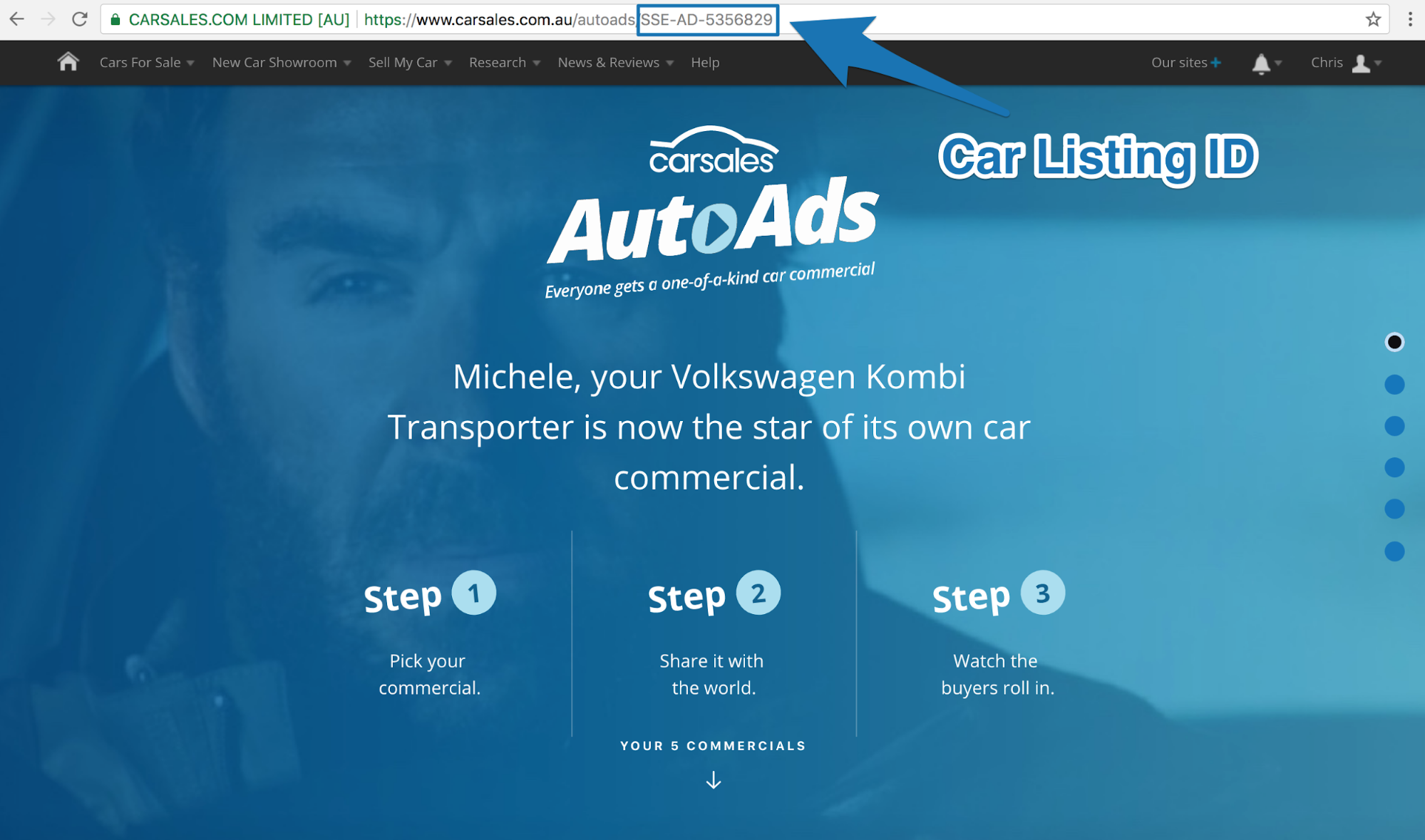 Screenshot of AutoAds