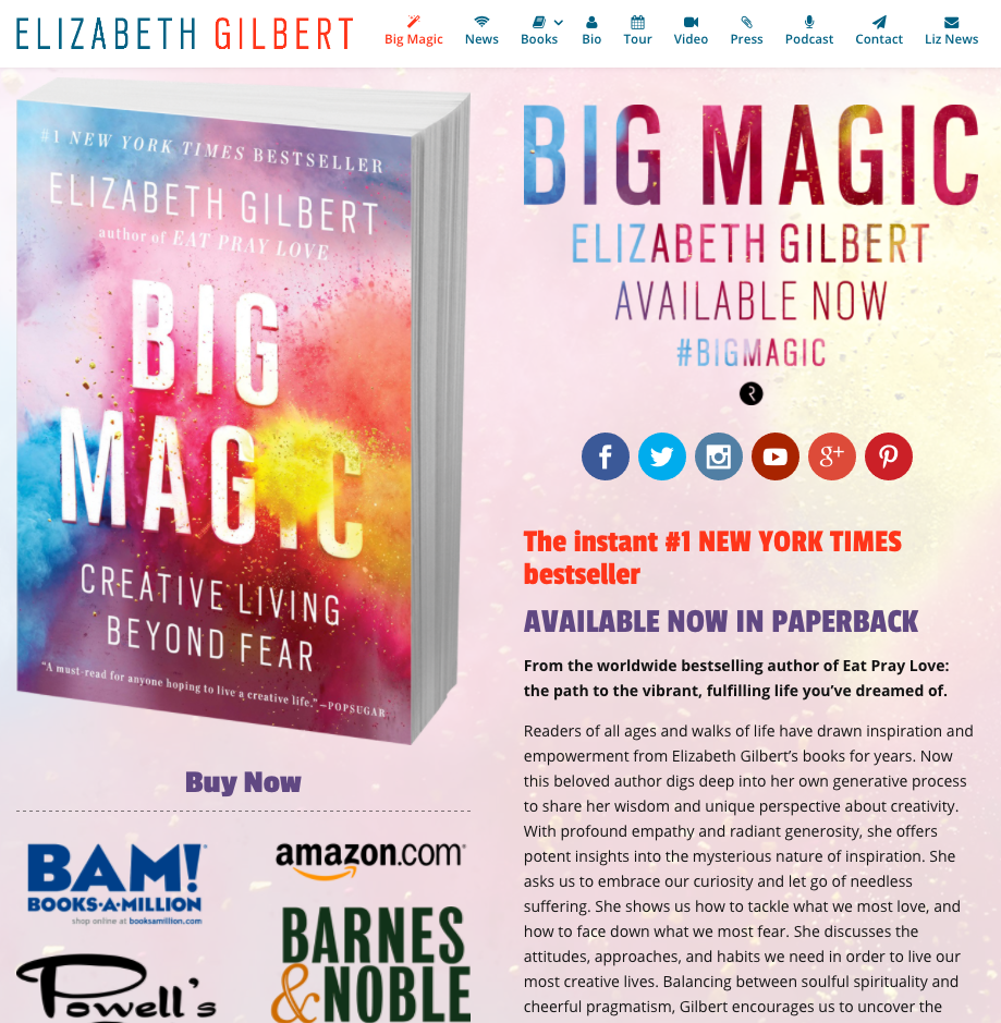 elizabeth gilbert website